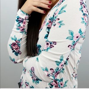 Pacsun Nollie floral long sleeve top